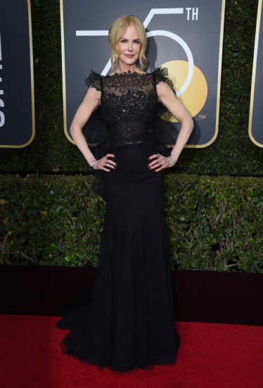 Nicole Kidman arrives at the 75th annual Golden Globe Awards at the Beverly Hilton Hotel on Sunday, Jan. 7, 2018, in Beverly Hills, Calif. (Photo by Jordan Strauss/Invision/AP)