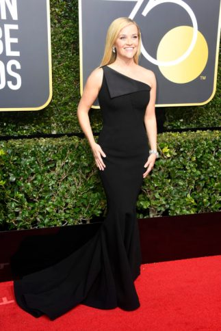 BEVERLY HILLS, CA - JANUARY 07: Reese Witherspoon attends The 75th Annual Golden Globe Awards at The Beverly Hilton Hotel on January 7, 2018 in Beverly Hills, California. (Photo by Frazer Harrison/Getty Images)