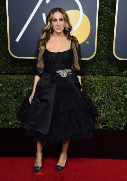 Sarah Jessica Parker arrives at the 75th annual Golden Globe Awards at the Beverly Hilton Hotel on Sunday, Jan. 7, 2018, in Beverly Hills, Calif. (Photo by Jordan Strauss/Invision/AP)